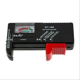 Delleu 1 testeur de piles AA C D pour pile 9 V 1,5 V et pile bouton Aaa Aa C D Bt-168D rechargeable