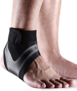 Ankle Support Adjustable Lightweight Ankle Brace Breathable Material Ankle Sleeve for Men and Women 2 Pcs Right and Left Foot (M)