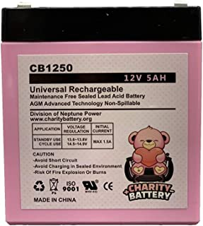 Casil CA1240 12V 5Ah SLA Alarm Replacement Battery CB1250 by Charity Battery