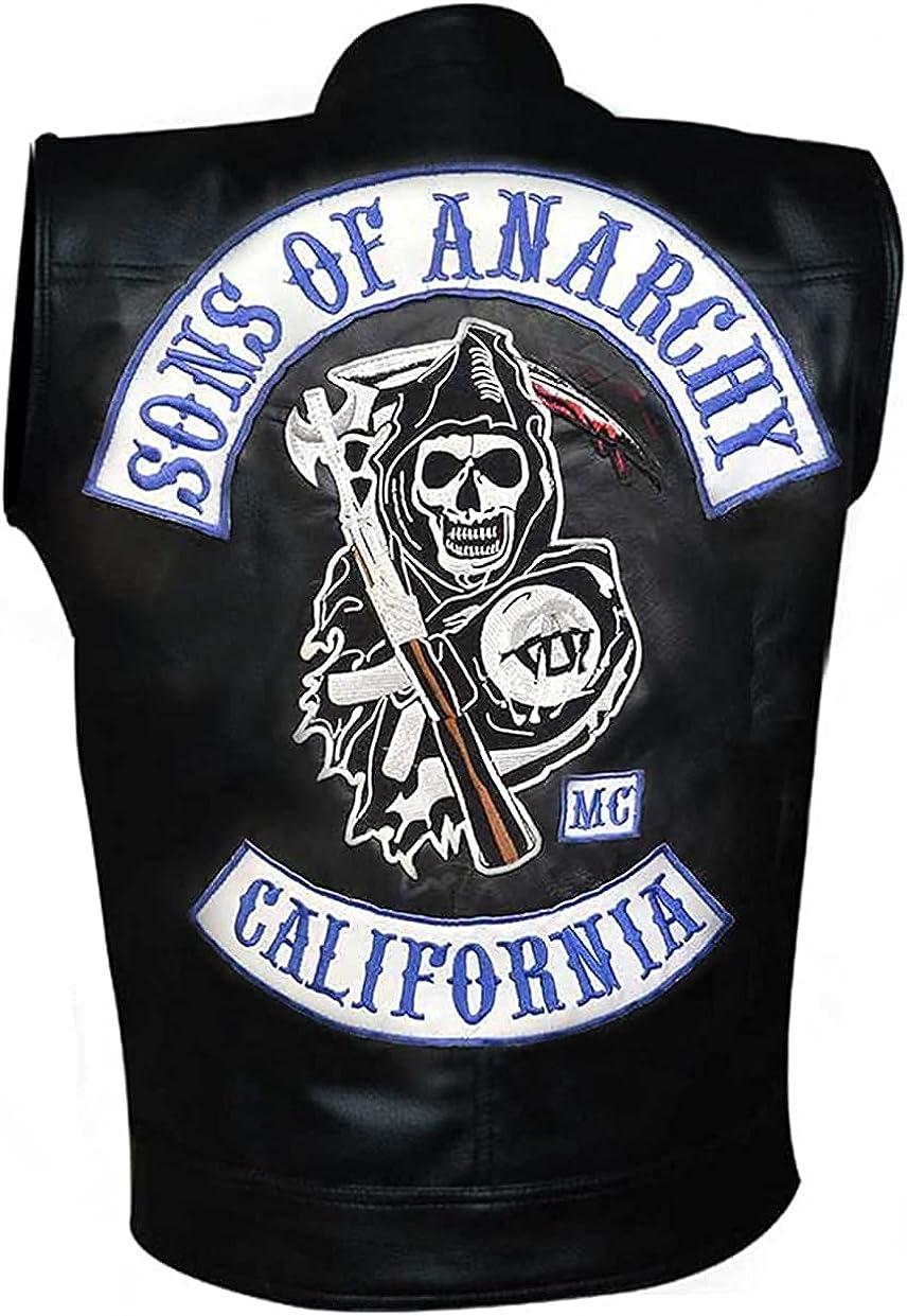 Men's Faux Leather Biker Vest - Motorcycle vest