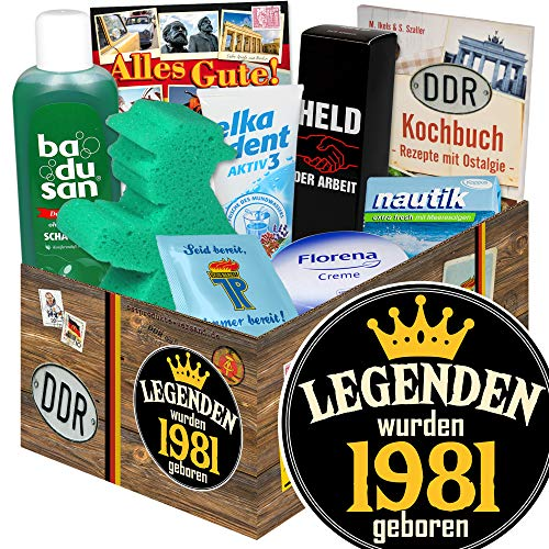 Legenden 1981 - DDR Pflege Geschenk - Geschenk für Mann zum Geburtstag