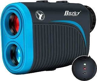 Bozily Golf Rangefinder, 6X Rechargeable Laser Range Finder 1200 Yards with Slope Adjustment, Flag-Lock, Slope ON/Off, Continuous Scan Support - Tournament Legal Golf Rangefinder