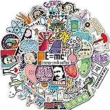 Paquete de Pegatinas 50 Piezas de Dibujos Animados creativos Laboratorio Química Personalidad Graffiti Maleta Taza de Agua Patineta Refrigerador Impermeable Niños Pegatinas