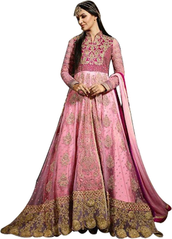 Indian Party wear Anarkali Salwar Kameez Suit Dupatta Ceremony Punjabi H1