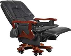 Boss Chair, Electric Massage Leather Executive Chair Reclining Office Chair Swivel Chair Modern Minimalist Home Recliner M...
