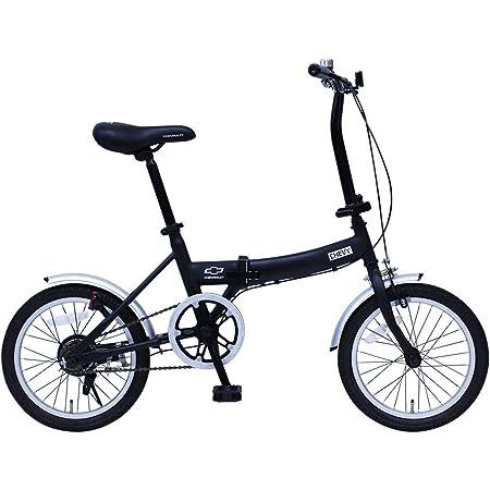 シボレー 折りたたみ自転車 CHEVROLET 16インチ FDB16G ブラック MG-CV16G