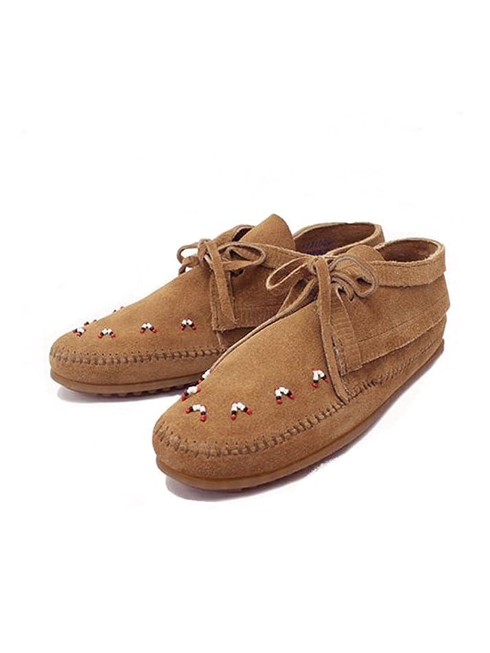 出発する胴体序文[ミネトンカ] Beaded Ankle Boots(ビーズアンクルブーツ)#517T TAUPE SUEDE レディース MT217
