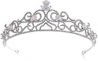 LUCKYYY Accessori per Abiti da Sposa con Copricapo a Corona in Pietra da Sposa