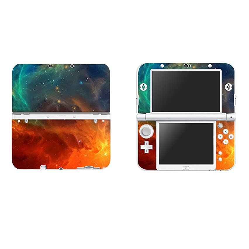 eSeeking Vinyl Cover Decals Skin Sticker for New Nintendo 3DS XL / LL - Orange Nebula