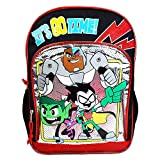 Teen Titans Go Backpack for School Kids ~ Deluxe 16' Teen Titans Backpack (Teen Titans School Supplies)