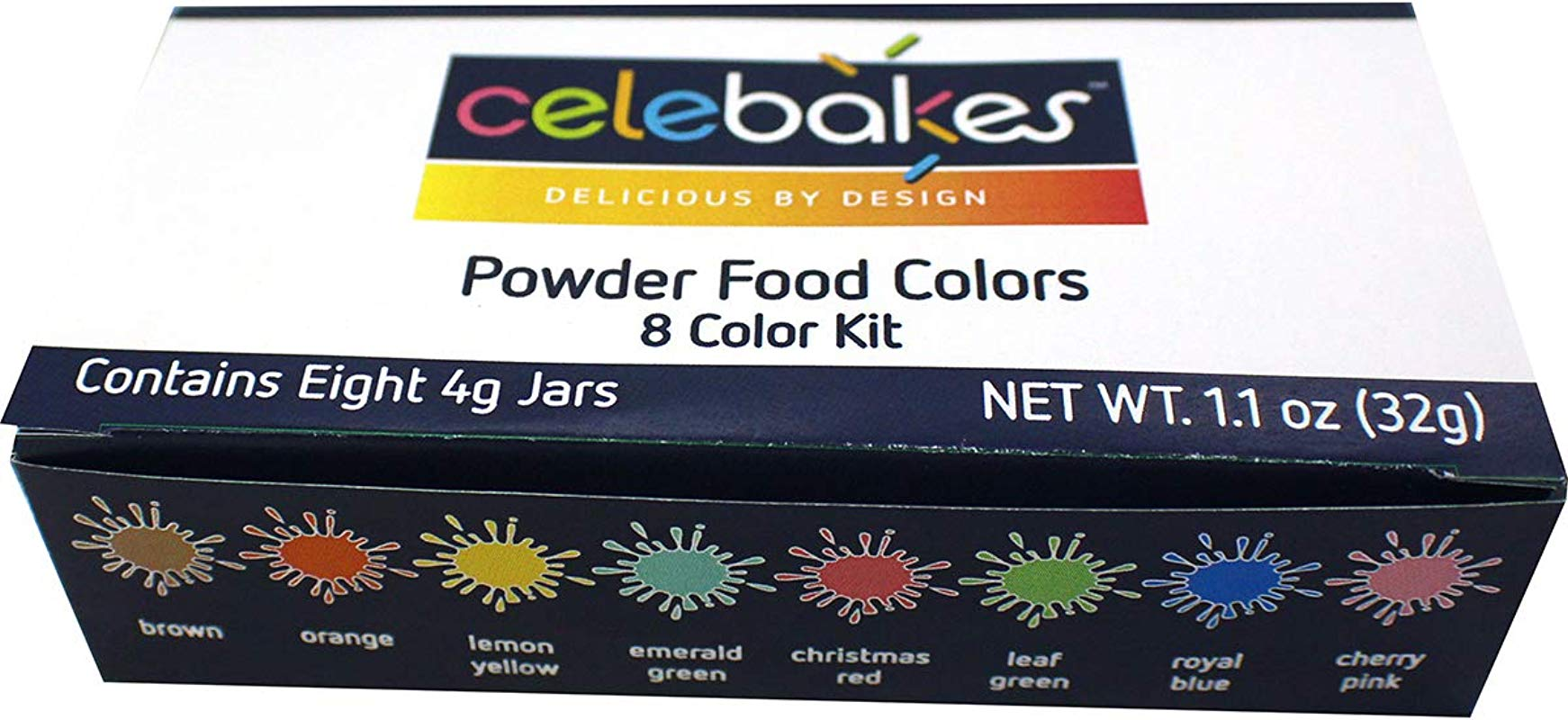 Celebakes Powdered Food Coloring 8 Color Kit