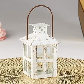 Kate Aspen Vintage White Distressed Small Candle Lantern, One Size