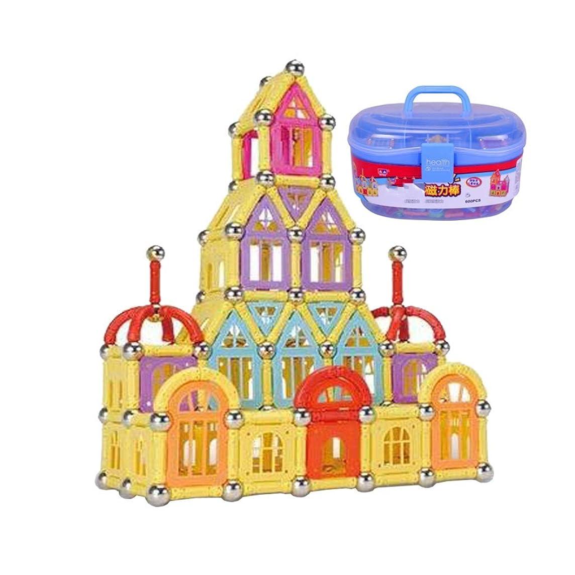 Yingjianjun A Set of 108 Magnetic Building Blocks, Children's Magnetic Toy Building Stacking Kit, Building Tile Block Creative Educational Toys