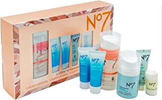 No7 Five Steps To Radiance Skincare Gift Set-Daily Face Polish,Overnight Recovery Gel Cream,Instant Results Nourishing Hyd...