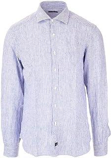 ラグジュアリーファッション | Fay メンズ NCMA140259LRUA0106 ライトブルー リネン シャツ | 春夏20