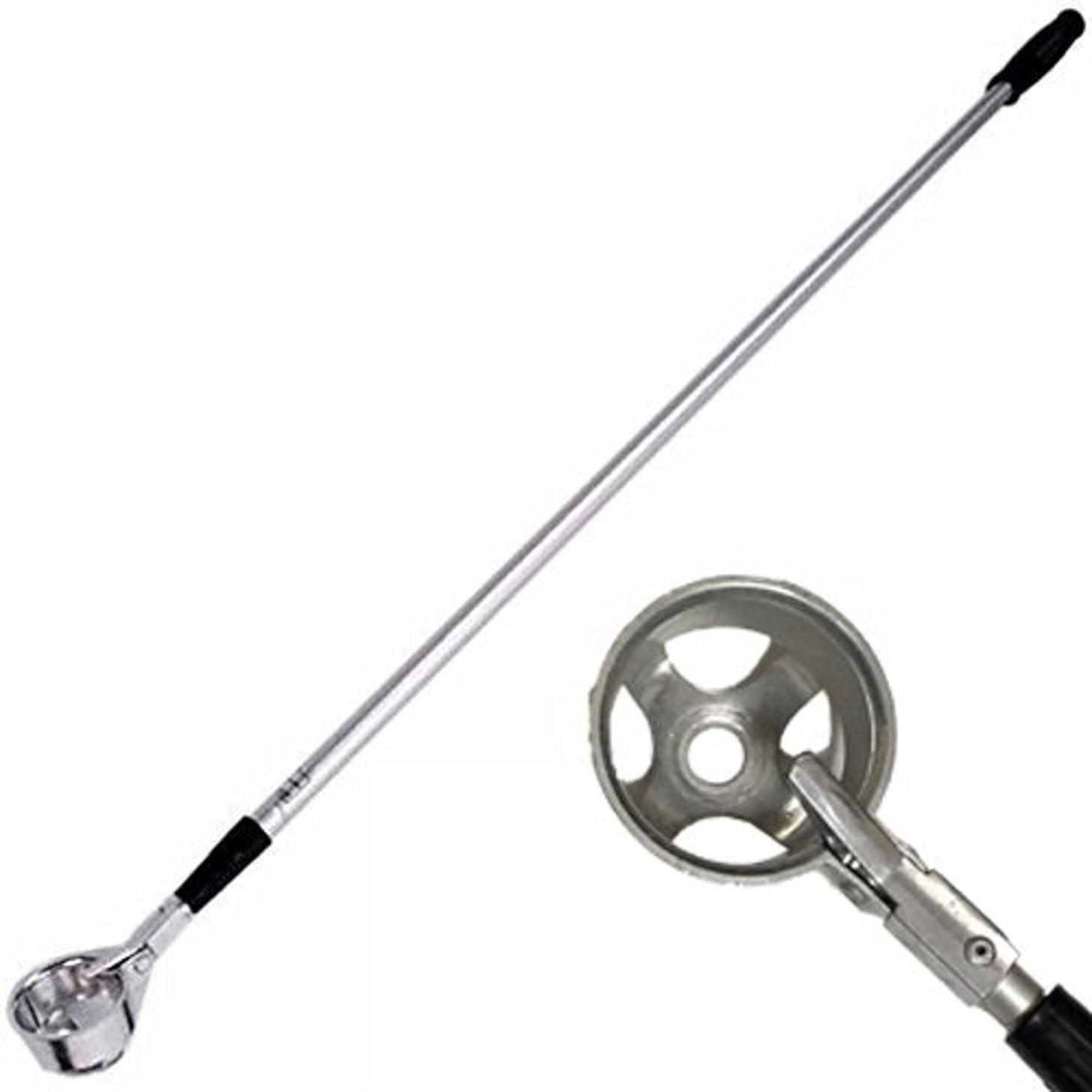 モスフラスコ縮約【SRrabbit 】伸縮 ゴルフ ボール ピッカー 池ポチャ ボール拾い器 片手で容易に 回収 軽量 2.7m