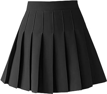 TONCHENGSD Women's High Waist Pleated Mini Skirt Skater Tennis Skirt