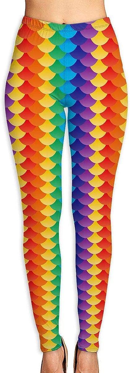 Rainbow Scales Gym Leggings Omaha Mall Pants Yoga Sweatpants Max 56% OFF