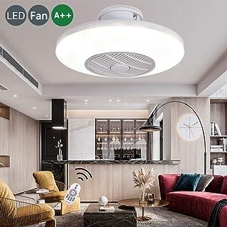 Luz Noche LED Techo Ventilador Silencioso Temporizador Inteligente Adecuado Habitación Del Bebé Para Niños Ventiladores Redondos Energía Bajo Consumo Cómodos Control Remoto Lámparas Regulables