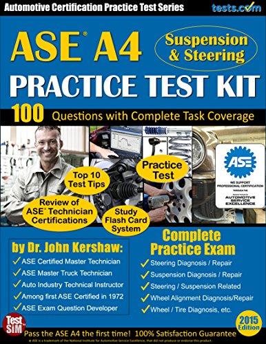 ASE A4 Practice Test Kit (Suspension & Steering) -...