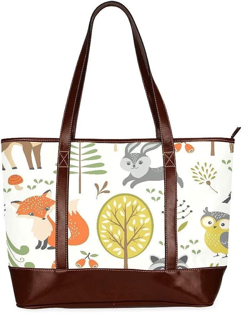 Forest With Animals Fox Cheap super special service price Dear Owl Handbag Bag Bird Shoulder Unise