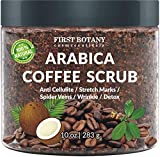100% Natural Arabica Coffee Scrub with Organic Coffee, Coconut and Shea Butter - Best...
