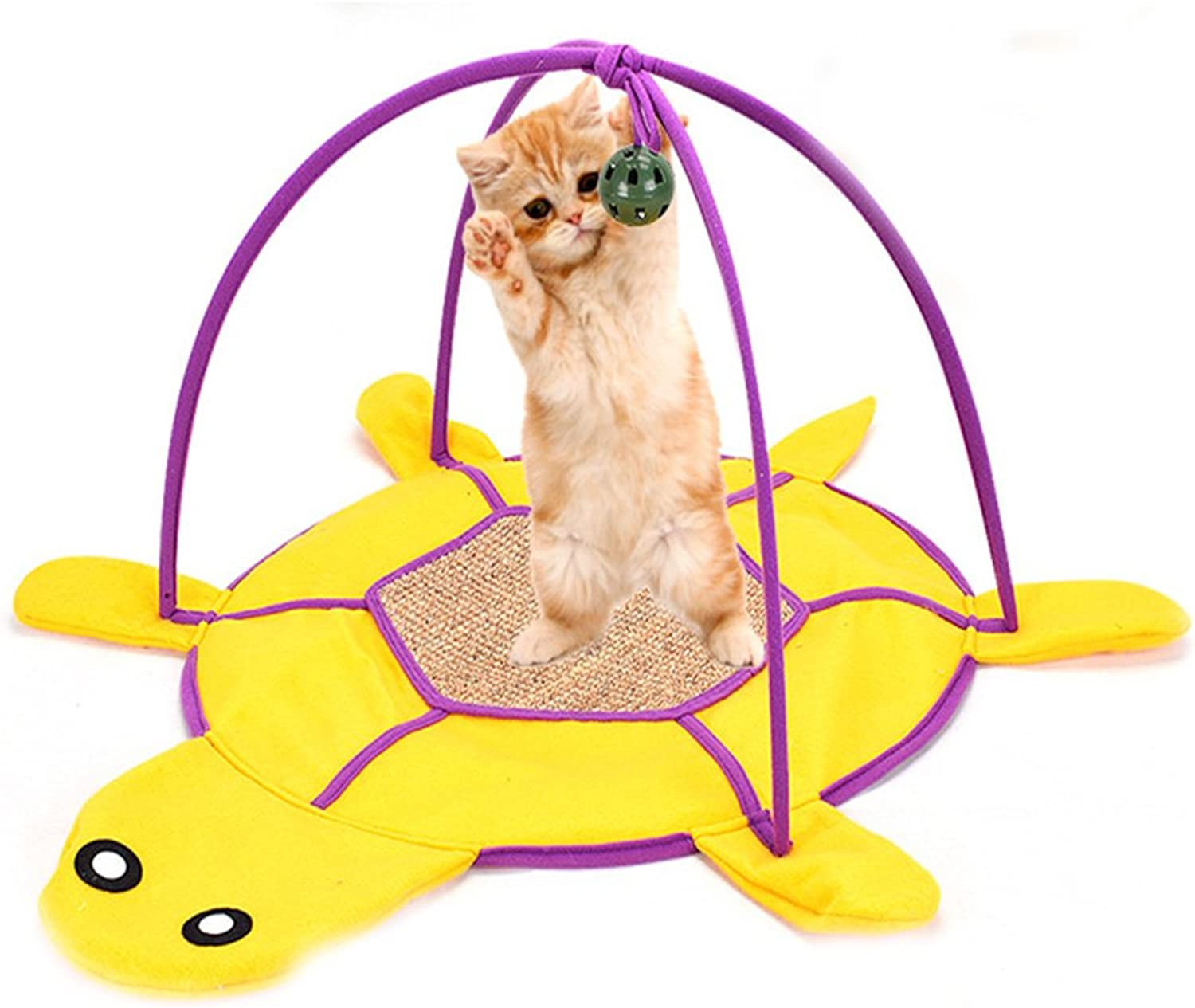 Cat Play Mat Activity Pet Kitten Padded Pet Kitten Padded Bed with Hanging Toys Balls