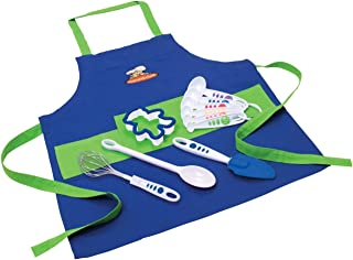 Curious Chef Children's 11-Piece Blue & Green Chef's Kit