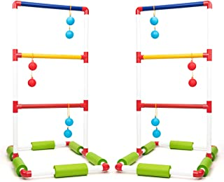 ROPODA Floating Ladder Ball toss Game Set-Fun Pool Toys with 6 Floating Game Balls,2 PVC Ladder Set and Carrying case for Kids and Adults Play