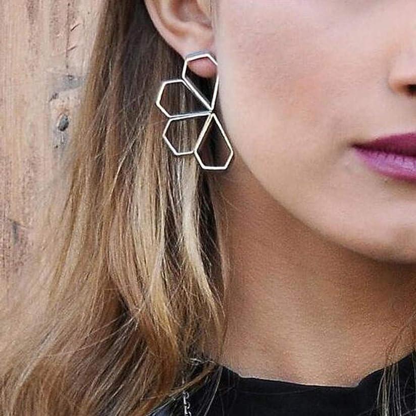 枠サロンプレゼンテーションNicircle 女性のためのファッショナブルな幾何学的な花の形のペンダントイヤリングジュエリー Fashionable Geometric Flower Shape Pendant Earring For Women Earring Jewelry