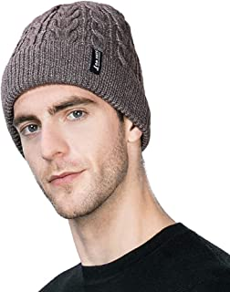 Unisex Thick Wool Knit Baggy Slouchy Beanie Hat Watch Cap for Men Women