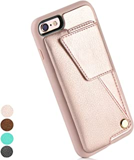 iPhone 6 PLUS Wallet Case, iPhone 6 PLUS Card Case, ZVEdeng Leather Wallet Phone Case with Credit Card Holder for iPhone 6 Plus/6s Plus(5.5inch), iPhone 6 Plus Leather Case, Slim Shockproof Case Cover