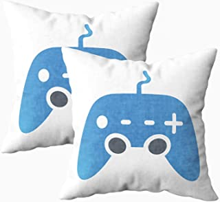 Musesh My Pillow Case Throw Pillows, Game Console Control for Sofa Home Decorative Pillowcase 18X18 Set of 2 Pillow Covers