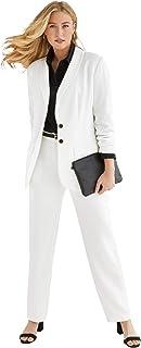 Jessica London Women's Plus Size Single-Breasted Pantsuit Set