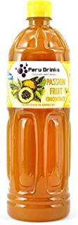 Peru Drinks - Natural Peruvian Pure Concentrate Fruit Juice - Passion Fruit - Yields 1.3 Gallons of Juice