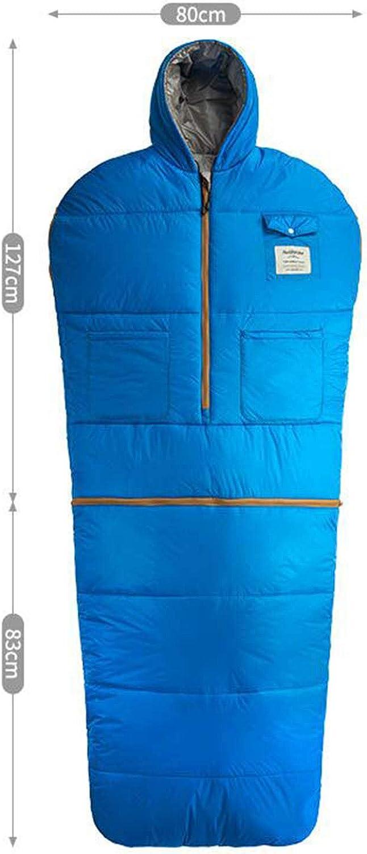 LNYF-OV Schlafsack Adult Outdoor Sports Reisen Herbst Winter Thicken Warmer Indoor Camping Schmutzig, Abnehmbar, Blau, Größe  210  80cm B07K6ZC8PR  Zuverlässige Leistung