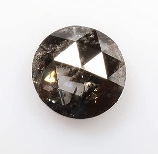 0.91 ct 6.1 mm Natural Loose Diamond Salt and Pepper Black Color Beautiful Round Rose Cut Diamond R4035