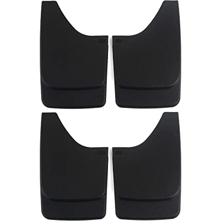 Red Hound Auto Premium Heavy Duty Molded Universal Mud Flaps Guards Splash Front and Rear Set 4pc