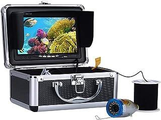 Fish Finders Buscador de Peces DVR de 7 Pulgadas, 15 Piezas LED Blancos + 15 Piezas LED Infrarrojos Lámpara Cámara subacuá...