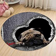 Round Animal Rug Bedroom Bedside Balcony Bay Window Deck Chair Polyester Carpet Children's Play Crawling Mat,4,80cm