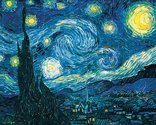 Culturenik Vincent Van Gogh Starry Night Night Decorative Fine Art Poster Print, Unframed 16x20