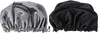 Beaupretty — Touca de cetim para dormir com 2 peças, chapéu de noite para perda de cabelo para mulheres