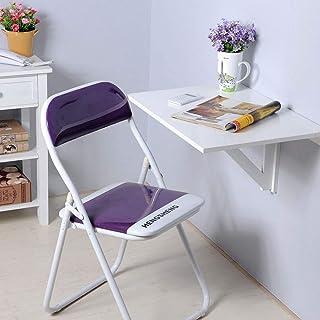 طاولة كمبيوتر محمول قابلة للطي، مكتب مثبت على الحائط، مكملة مثالية للمنزل والمكتب وغرفة الغسيل وغرفة العائلة والمطبخ وغرفة...