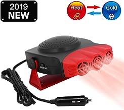 Car Heater & Fan 12V Portable Cooller Defrost Defogger Automobile 3-Outlet Plug Fast Cooling & Heating