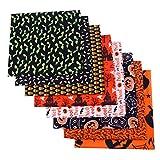 UBVV 8 Stück Halloween-Muster Baumwollstoff Stoffe für