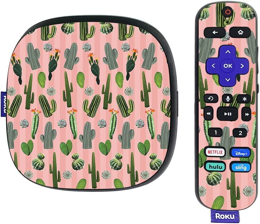 MightySkins Skin Compatible with Roku Ultra HDR 4K Streaming Media Player (2020) - Cactus Garden   Protective, Durable, and Unique Vinyl Decal wrap Cover   Easy to Apply   Made in The USA