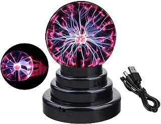 Bola de plasma, lámpara de globo sensible al tacto, creativa decoración mágica novedosa, funciona con USB/batería