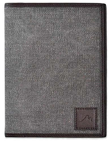 "Field Notes/Moleskine Pocket Notebook Cover by Metier Life | Canvas with Vegan Leather | Fits Journals 3.5"" X 5.5"" 
