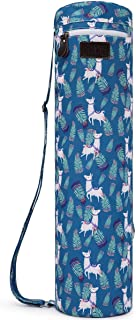 Boence Yoga Mat Bag, Full Zip Exercise Yoga Mat Sling Bag with Sturdy Canvas, Smooth Zippers, Adjustable Strap, Large Func...