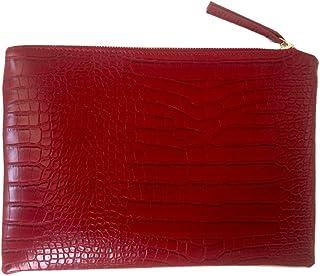 d00a2a718497 NIGEDU Women Clutches Crocodile Grain PU Leather Envelope Clutch Bag